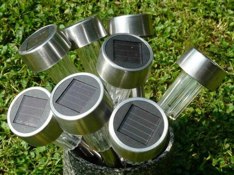 Садовые светильники, фото