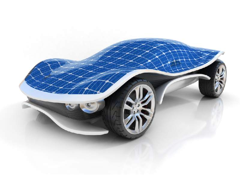 Автомобили на солнечных батареях и солнечная панель на крышу машины
